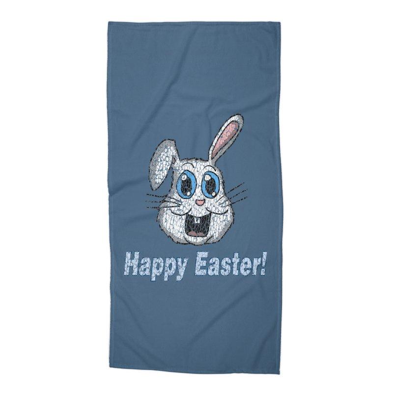 Vintage Happy Easter Bunny Accessories Beach Towel by ericallen's Artist Shop