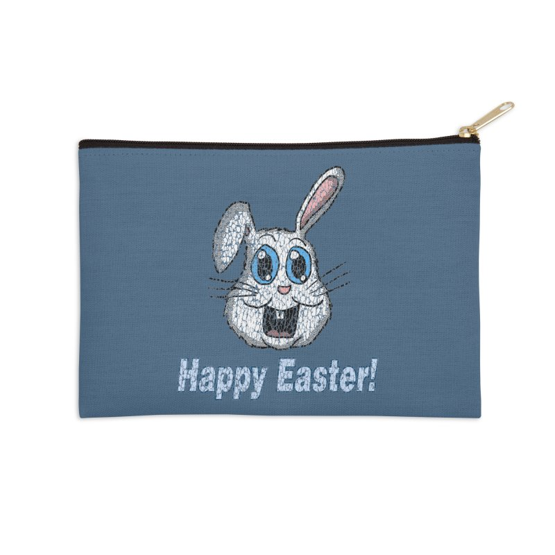 Vintage Happy Easter Bunny Accessories Zip Pouch by ericallen's Artist Shop