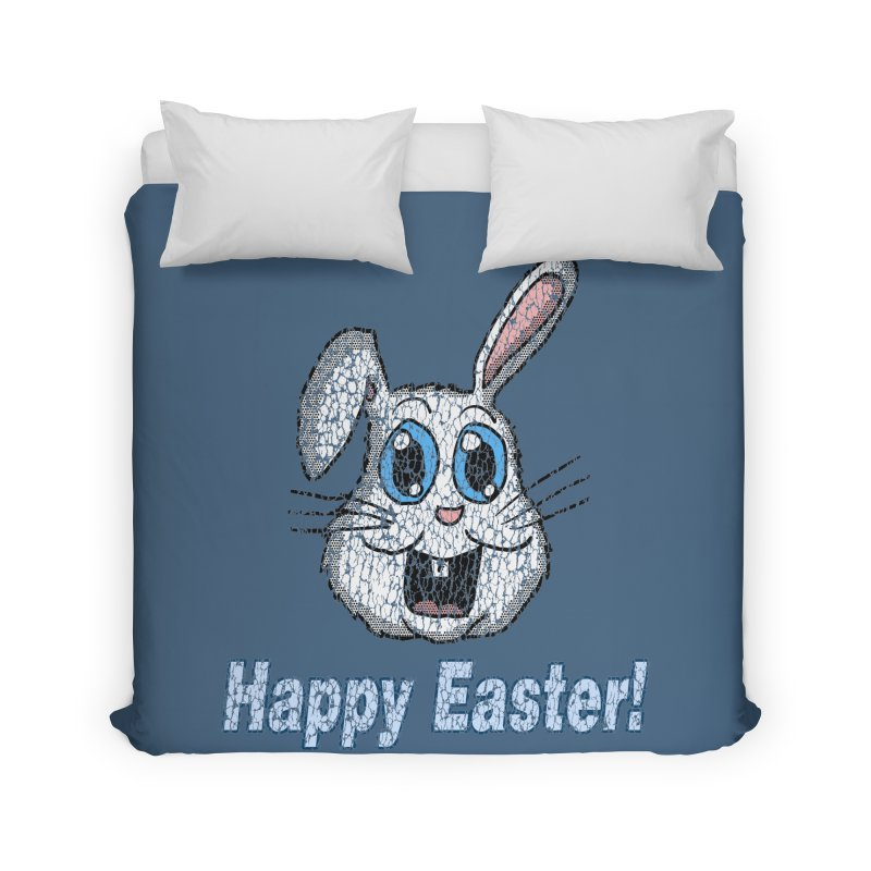 Vintage Happy Easter Bunny Home Duvet by ericallen's Artist Shop