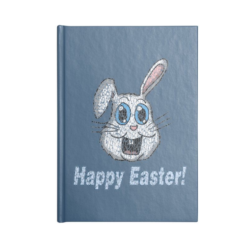 Vintage Happy Easter Bunny Accessories Notebook by ericallen's Artist Shop
