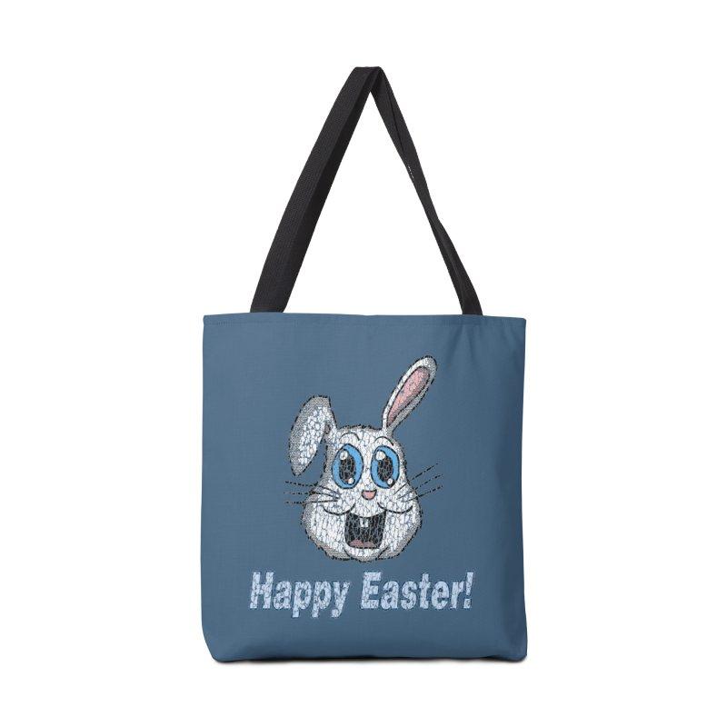 Vintage Happy Easter Bunny Accessories Bag by ericallen's Artist Shop