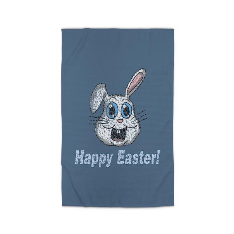 Vintage Happy Easter Bunny Home Rug by ericallen's Artist Shop