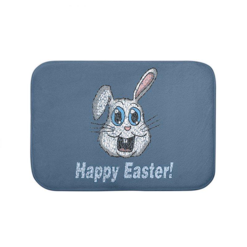 Vintage Happy Easter Bunny Home Bath Mat by ericallen's Artist Shop