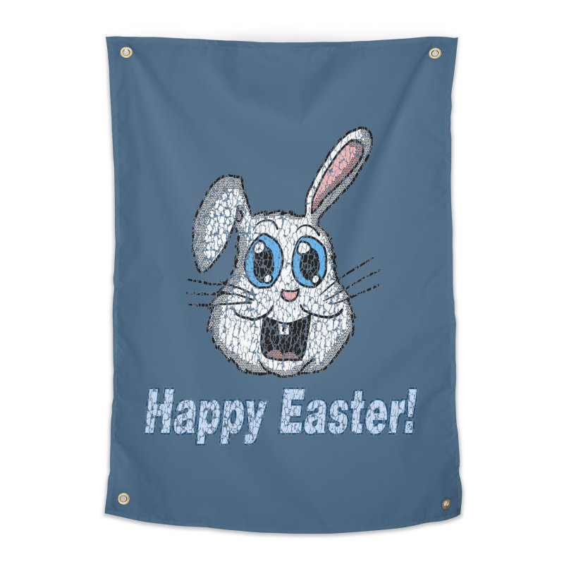 Vintage Happy Easter Bunny Home Tapestry by ericallen's Artist Shop