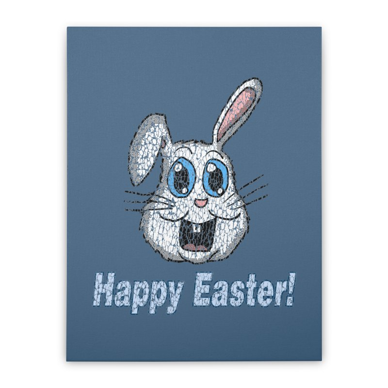 Vintage Happy Easter Bunny Home Stretched Canvas by ericallen's Artist Shop