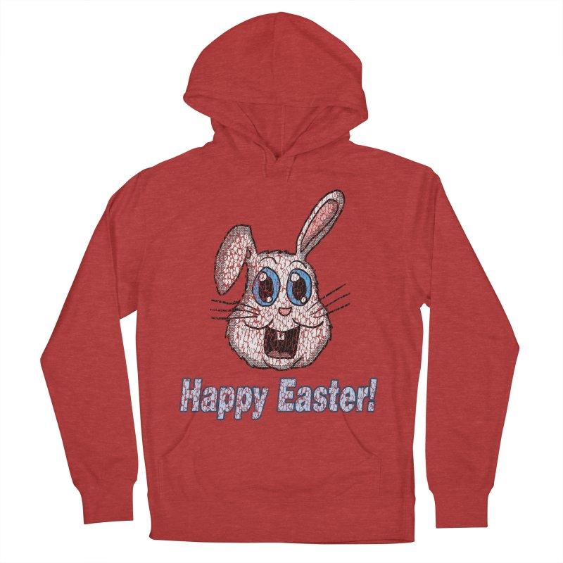 Vintage Happy Easter Bunny Women's Pullover Hoody by ericallen's Artist Shop