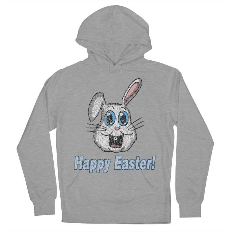 Vintage Happy Easter Bunny Men's Pullover Hoody by ericallen's Artist Shop