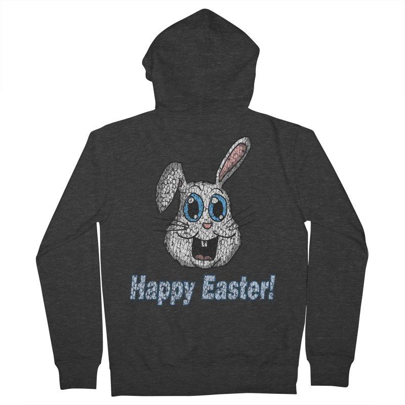 Vintage Happy Easter Bunny Men's Zip-Up Hoody by ericallen's Artist Shop