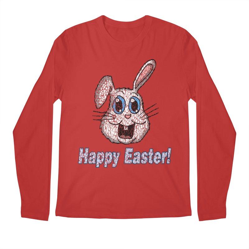 Vintage Happy Easter Bunny Men's Longsleeve T-Shirt by ericallen's Artist Shop