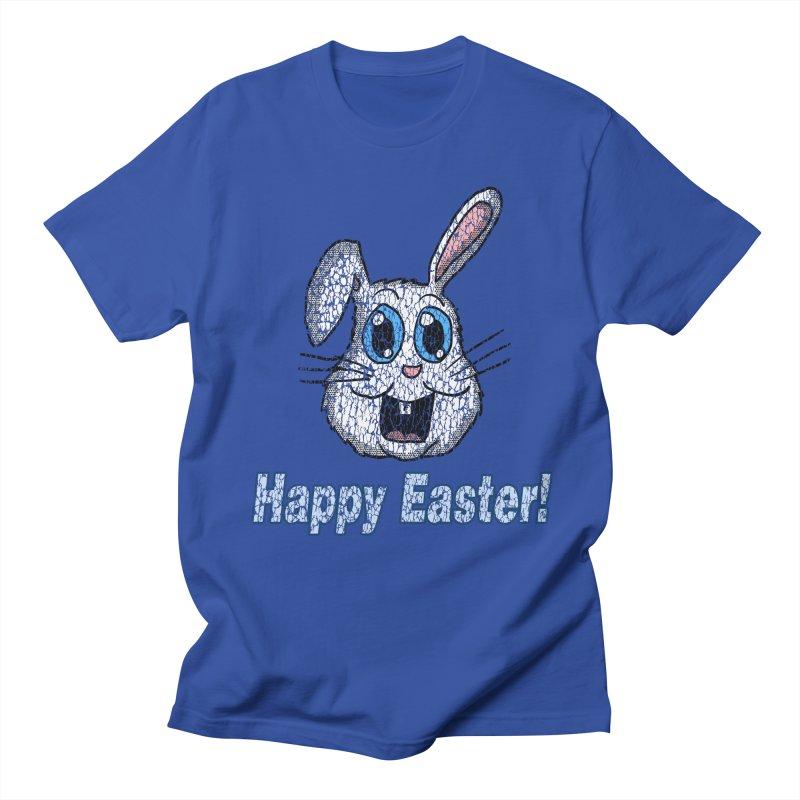 Vintage Happy Easter Bunny in Men's T-Shirt Royal Blue by ericallen's Artist Shop