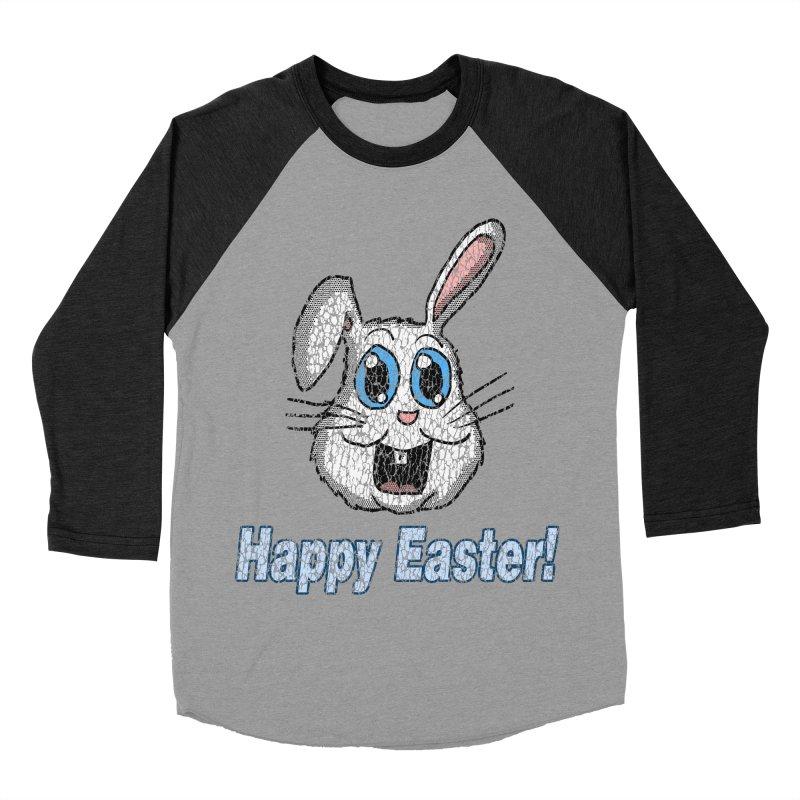 Vintage Happy Easter Bunny Women's Baseball Triblend T-Shirt by ericallen's Artist Shop