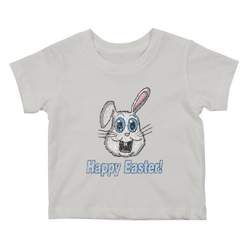 Vintage Happy Easter Bunny Kids Baby T-Shirt by ericallen's Artist Shop