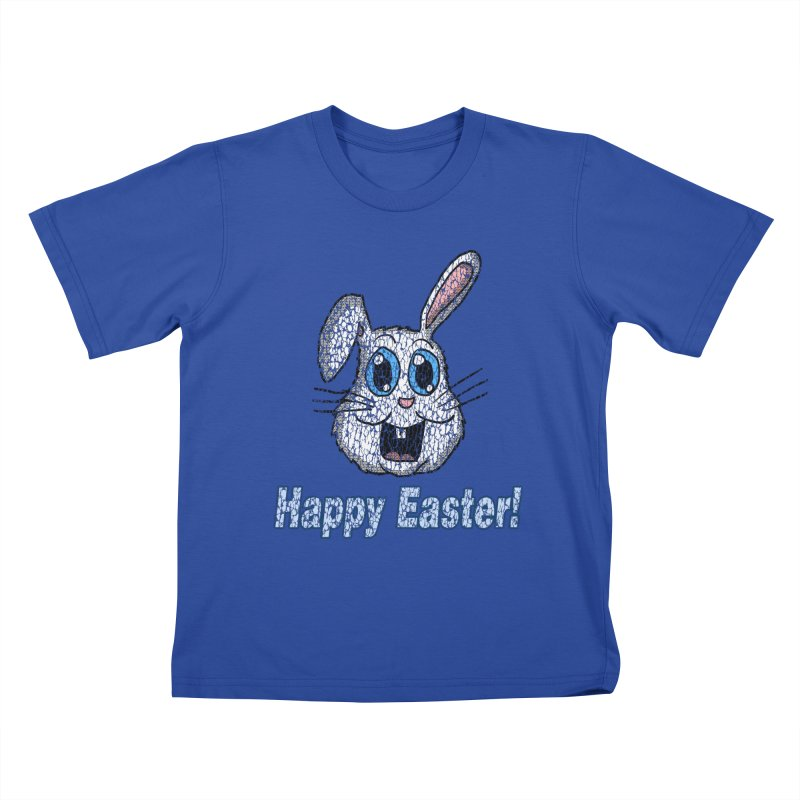 Vintage Happy Easter Bunny Kids T-Shirt by ericallen's Artist Shop