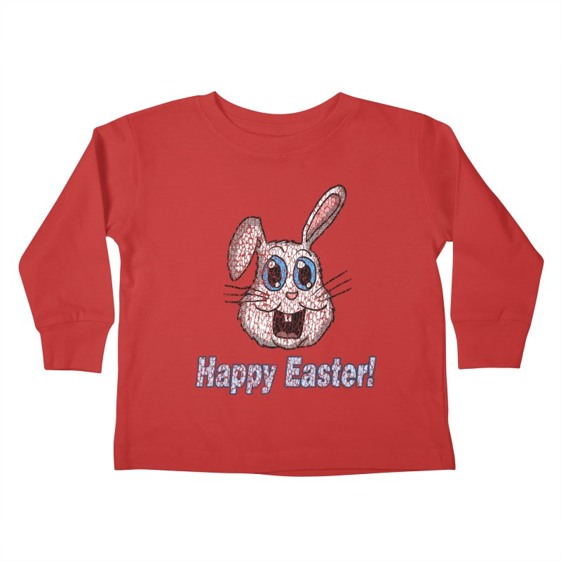 Vintage Happy Easter Bunny Kids Toddler Longsleeve T-Shirt by ericallen's Artist Shop