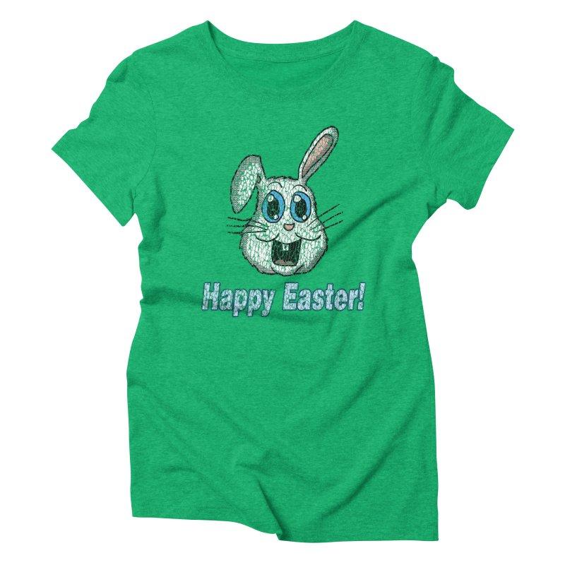 Vintage Happy Easter Bunny Women's Triblend T-Shirt by ericallen's Artist Shop