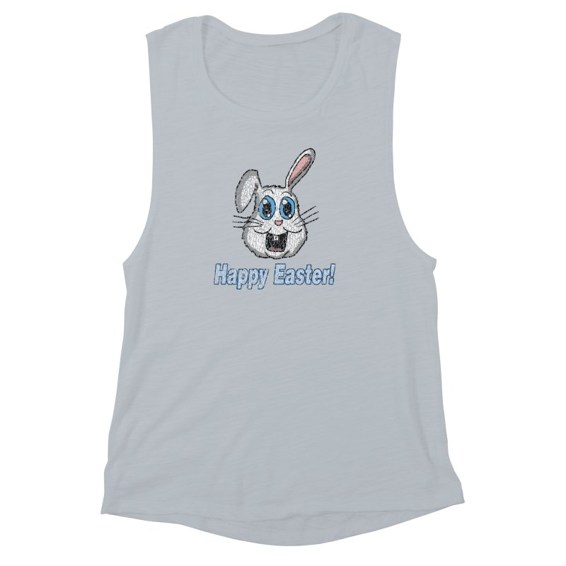 Vintage Happy Easter Bunny Women's Muscle Tank by ericallen's Artist Shop