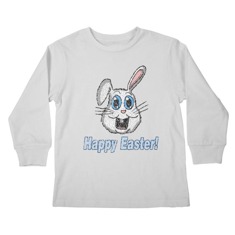 Vintage Happy Easter Bunny Kids Longsleeve T-Shirt by ericallen's Artist Shop