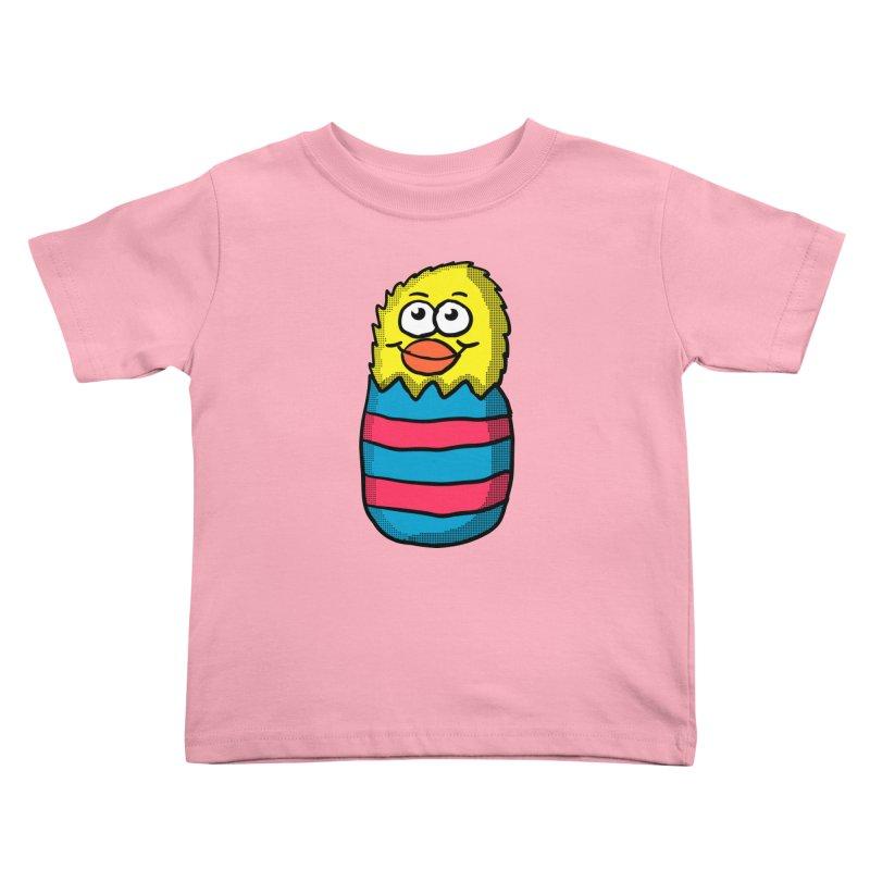Easter Egg Chick in Kids Toddler T-Shirt Light Pink by ericallen's Artist Shop