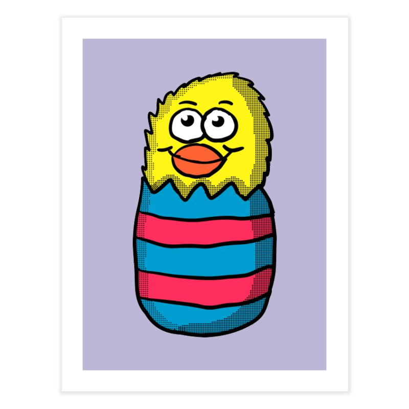 Easter Egg Chick Home Fine Art Print by ericallen's Artist Shop