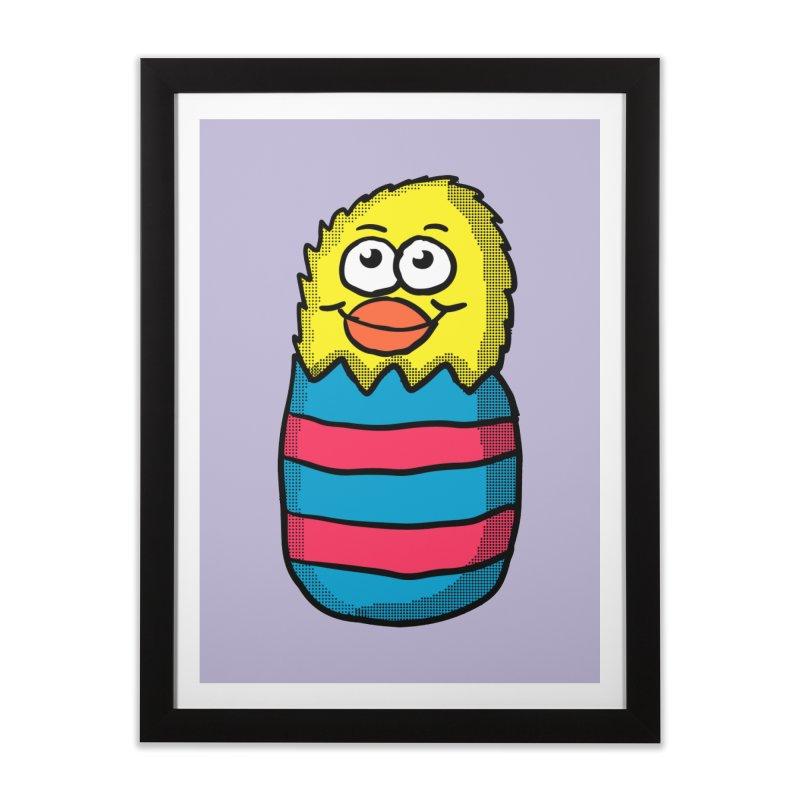 Easter Egg Chick Home Framed Fine Art Print by ericallen's Artist Shop
