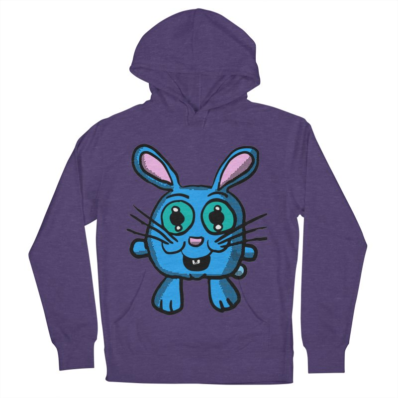 Chibi Blue Bunny Men's Pullover Hoody by ericallen's Artist Shop