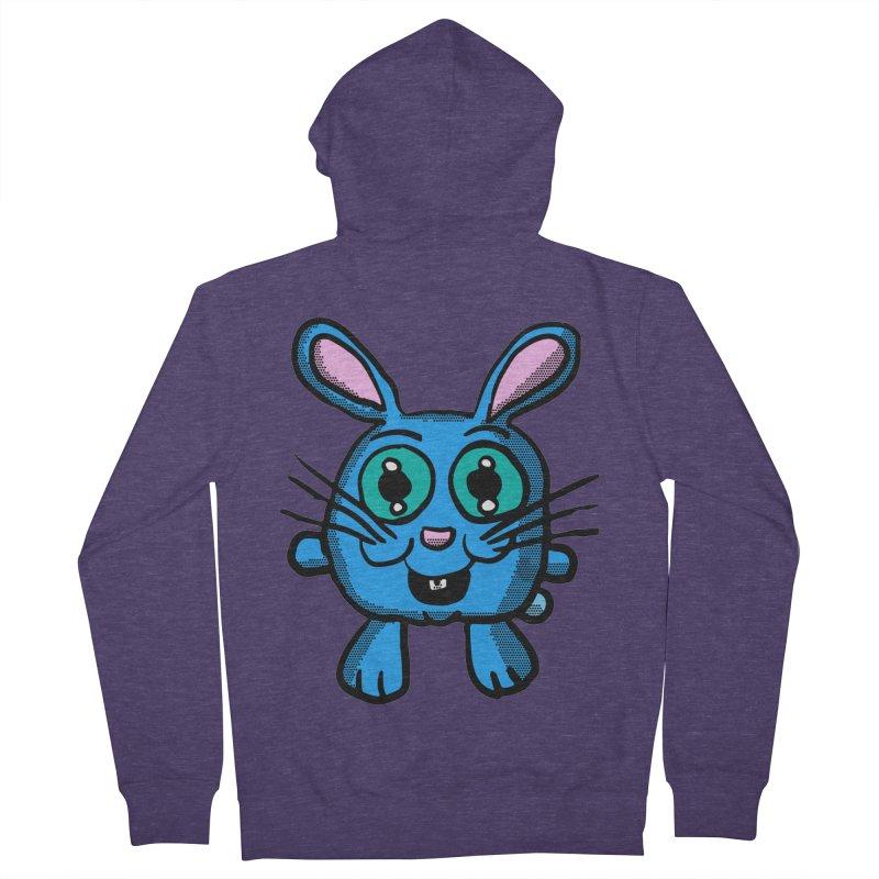 Chibi Blue Bunny Men's Zip-Up Hoody by ericallen's Artist Shop