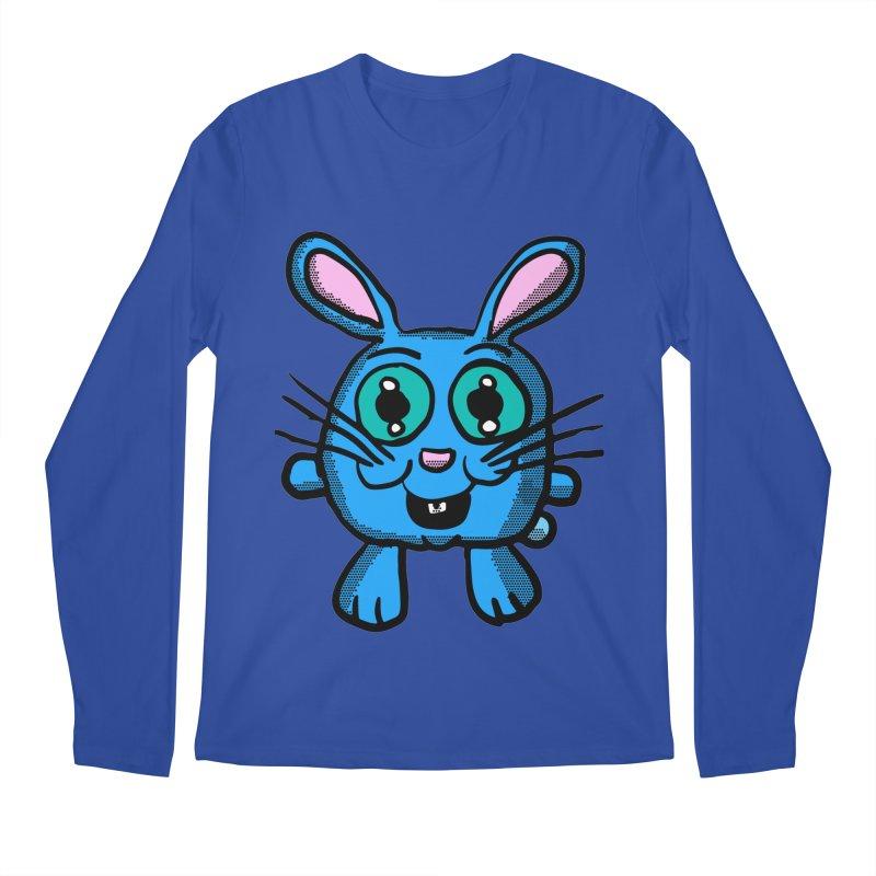Chibi Blue Bunny Men's Longsleeve T-Shirt by ericallen's Artist Shop