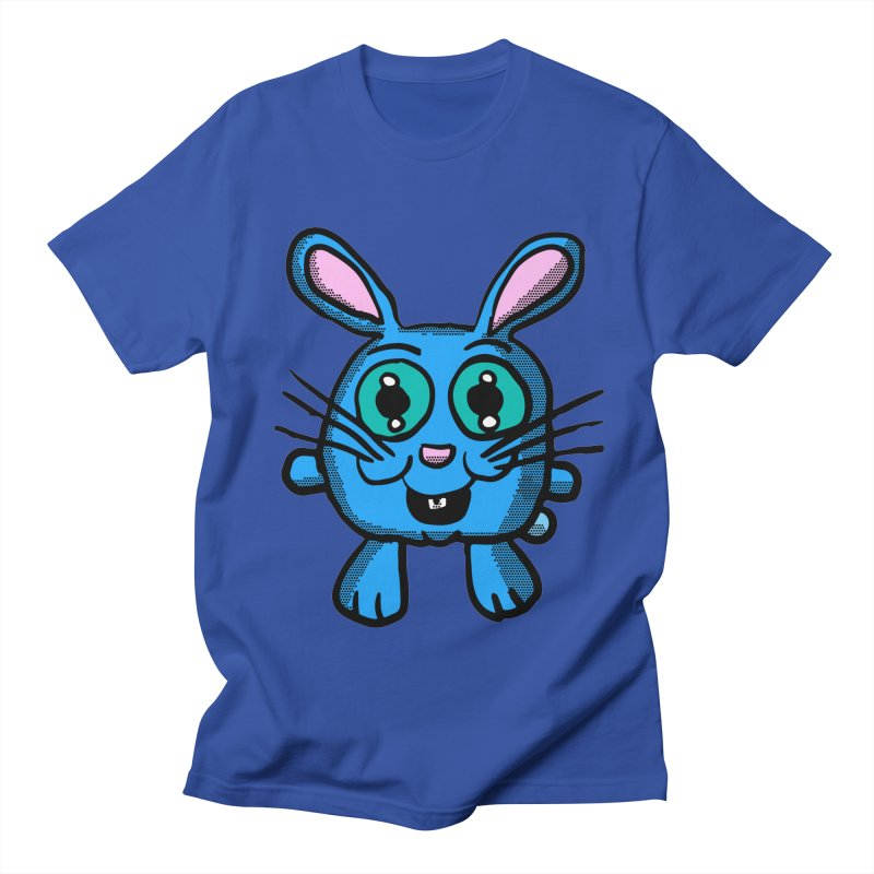 Chibi Blue Bunny in Men's T-Shirt Royal Blue by ericallen's Artist Shop