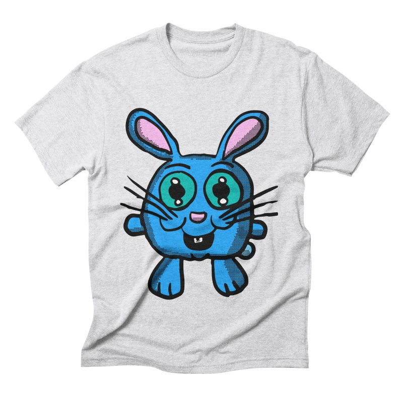 Chibi Blue Bunny Men's Triblend T-Shirt by ericallen's Artist Shop