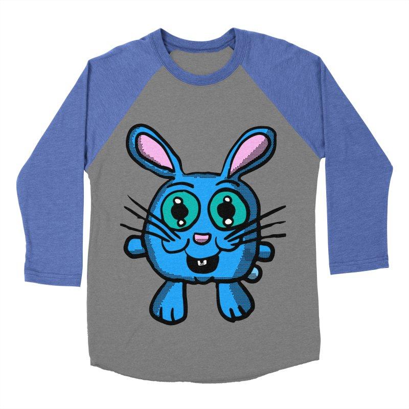 Chibi Blue Bunny Women's Baseball Triblend T-Shirt by ericallen's Artist Shop