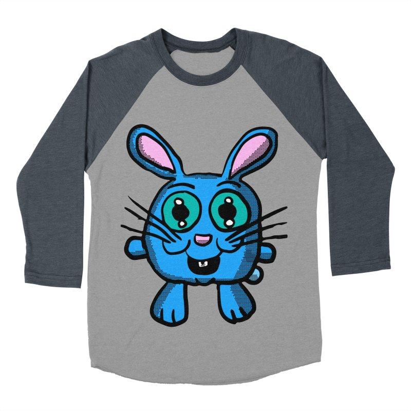 Chibi Blue Bunny Men's Baseball Triblend T-Shirt by ericallen's Artist Shop