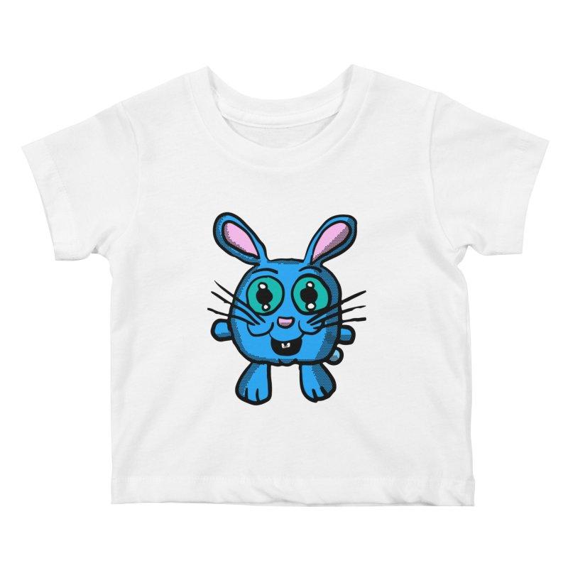 Chibi Blue Bunny Kids Baby T-Shirt by ericallen's Artist Shop