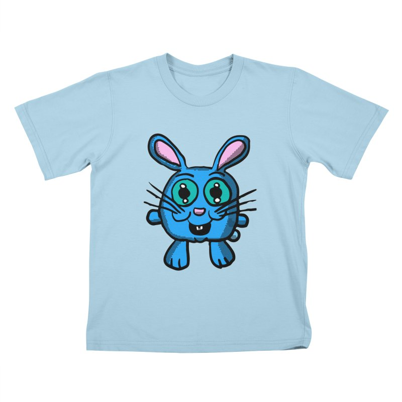 Chibi Blue Bunny Kids T-Shirt by ericallen's Artist Shop