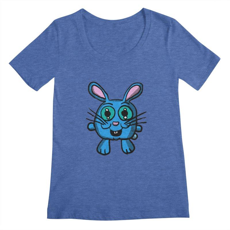 Chibi Blue Bunny Women's Scoopneck by ericallen's Artist Shop