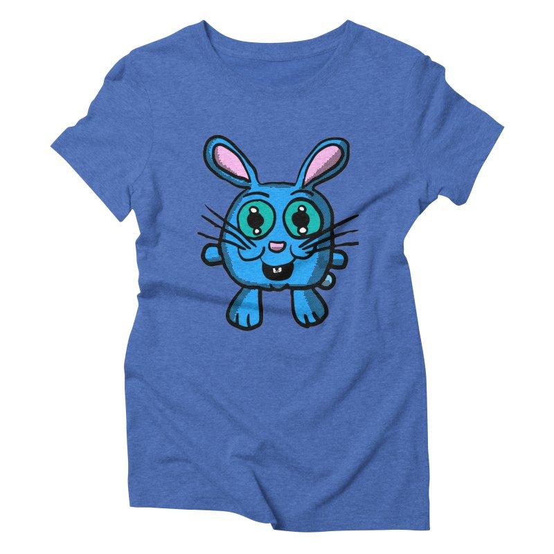 Chibi Blue Bunny Women's Triblend T-Shirt by ericallen's Artist Shop