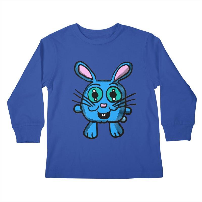 Chibi Blue Bunny Kids Longsleeve T-Shirt by ericallen's Artist Shop