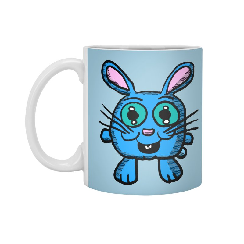 Chibi Blue Bunny Accessories Mug by ericallen's Artist Shop