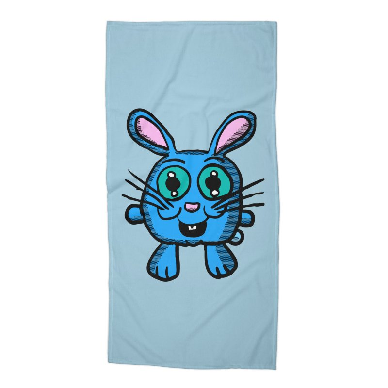 Chibi Blue Bunny Accessories Beach Towel by ericallen's Artist Shop