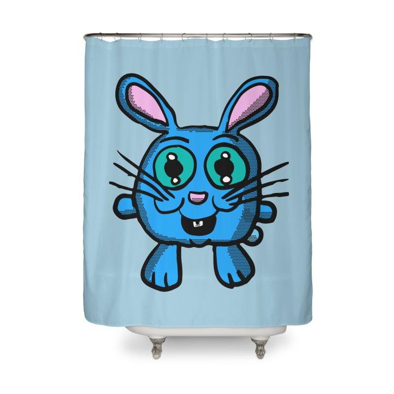 Chibi Blue Bunny Home Shower Curtain by ericallen's Artist Shop