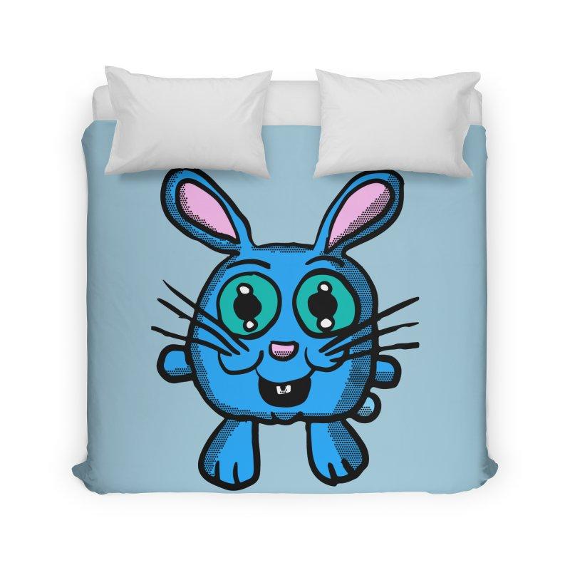 Chibi Blue Bunny Home Duvet by ericallen's Artist Shop