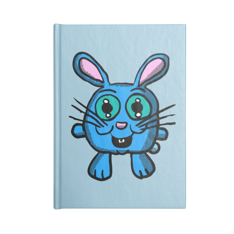Chibi Blue Bunny Accessories Notebook by ericallen's Artist Shop