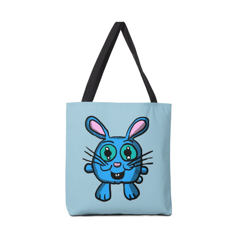 Chibi Blue Bunny Accessories Bag by ericallen's Artist Shop