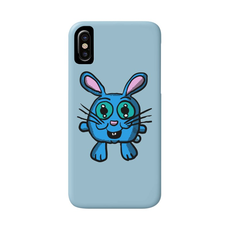 Chibi Blue Bunny Accessories Phone Case by ericallen's Artist Shop
