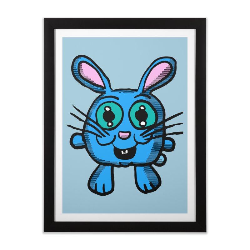 Chibi Blue Bunny Home Framed Fine Art Print by ericallen's Artist Shop