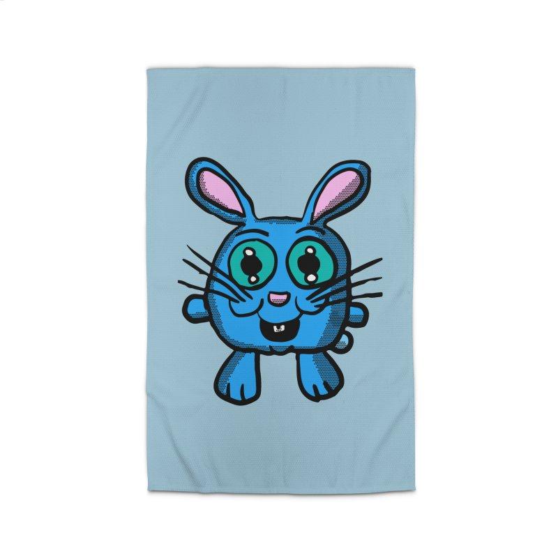 Chibi Blue Bunny Home Rug by ericallen's Artist Shop