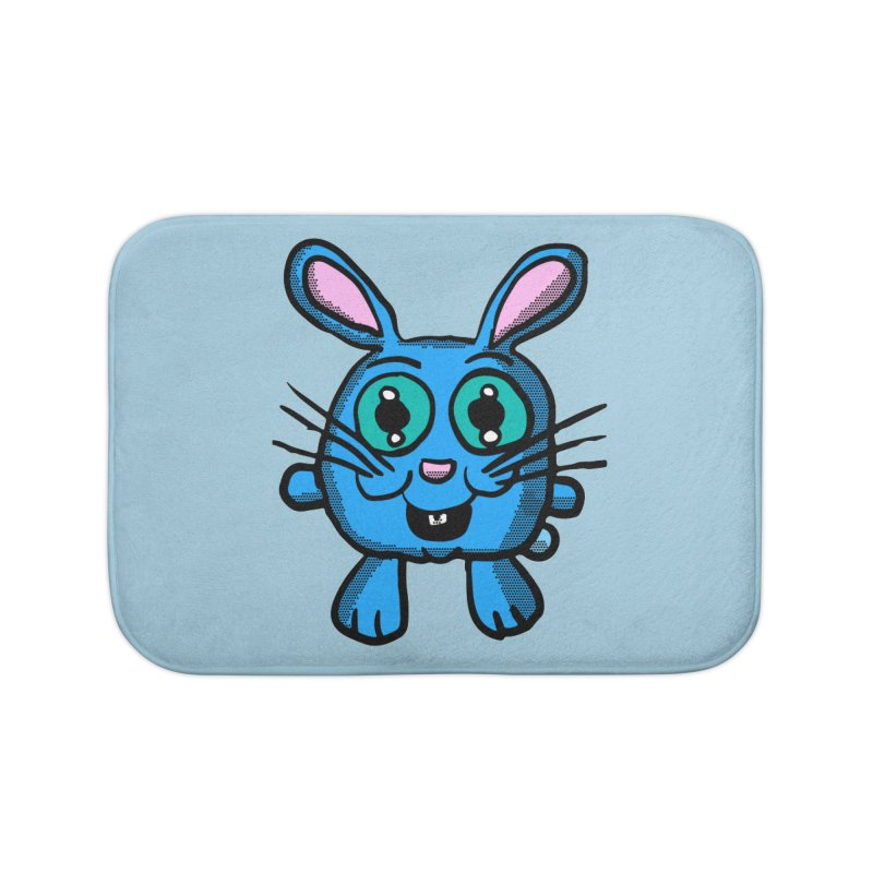 Chibi Blue Bunny Home Bath Mat by ericallen's Artist Shop