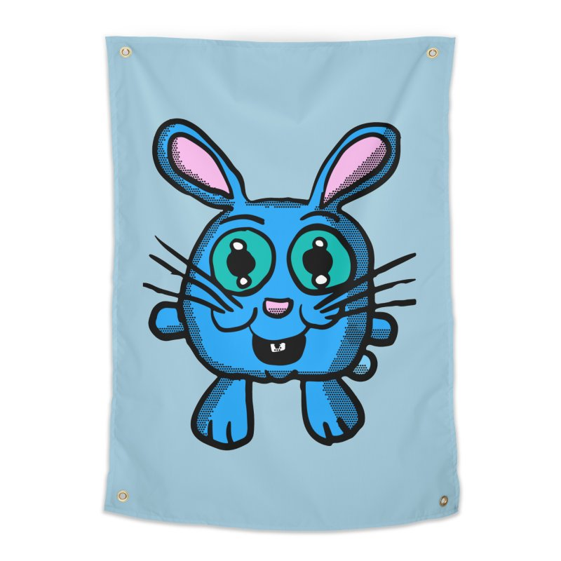 Chibi Blue Bunny Home Tapestry by ericallen's Artist Shop