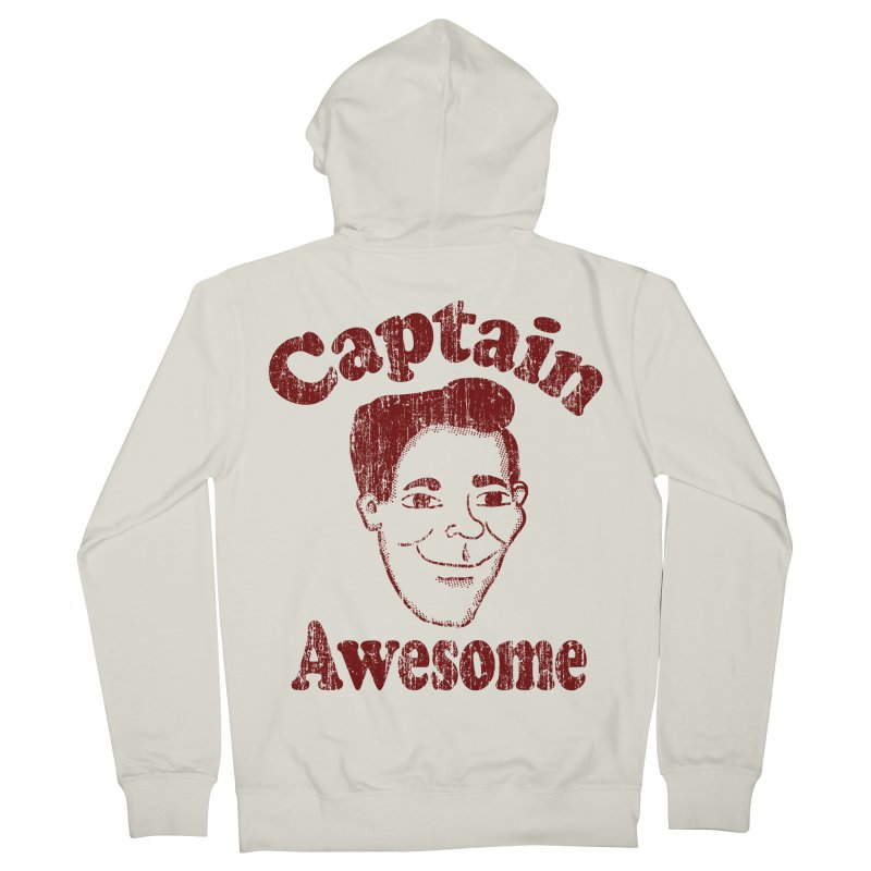 Vintage Captain Awesome Men's Zip-Up Hoody by ericallen's Artist Shop