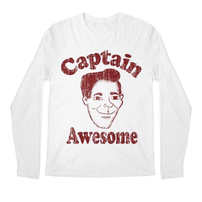 Vintage Captain Awesome Men's Longsleeve T-Shirt by ericallen's Artist Shop