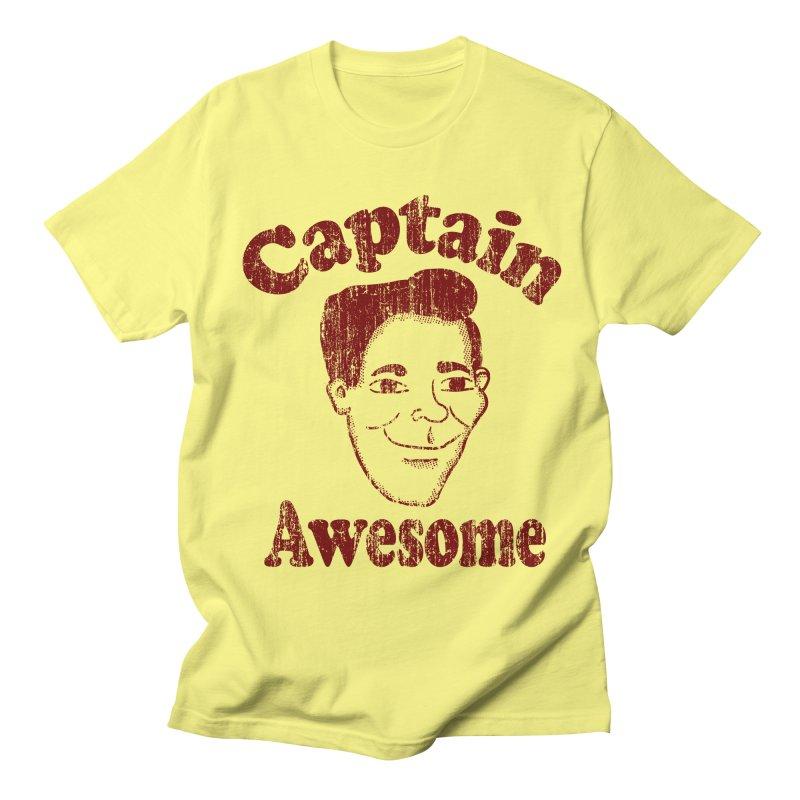 Vintage Captain Awesome in Men's T-Shirt Lemon by ericallen's Artist Shop